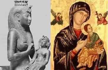 Diosa egipcia Isis y la Virgen del Perpetuo Socorro. Foto por newworldencyclopedia.com