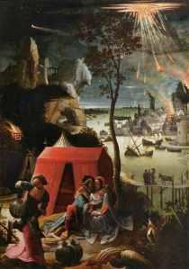 """""""Lot y sus hijas"""" Lucas Van Leyden (1520)"""