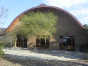Salón de meditación en el monasterio de Deer Park, California