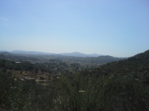 Vista desde el monasterio de Deer Park, California