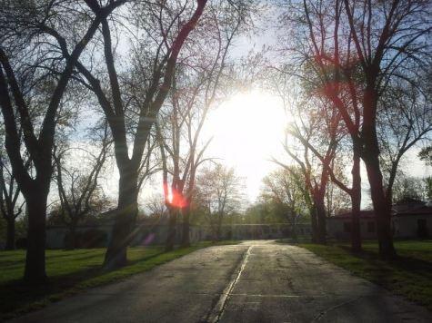 Calle frente a mi casa en Unity Village, Missouri en la primavera del 2015