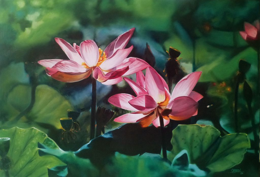LOTUS_-_OIL_PAINTING