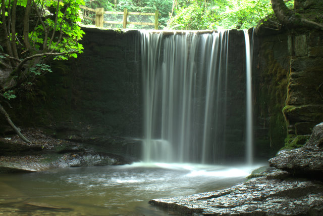 Waterfall,_Bersham_Woods_-_geograph.org.uk_-_1281873