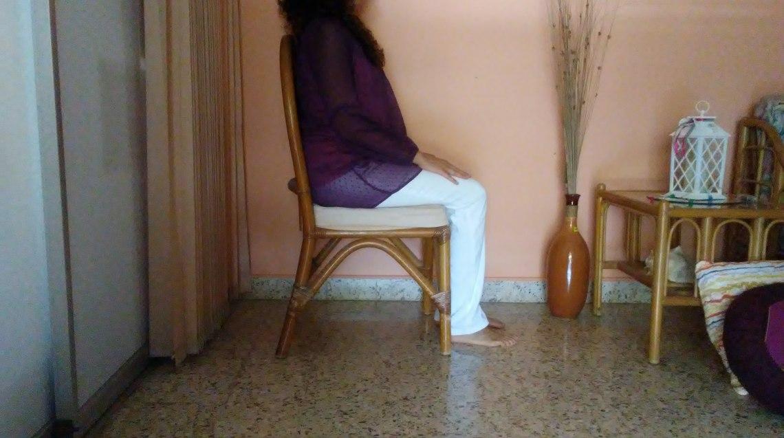 Postura sobre la silla